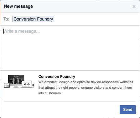 Example Facebook Message
